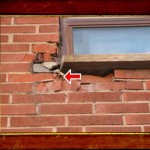 Brick Damage in Barrie ON