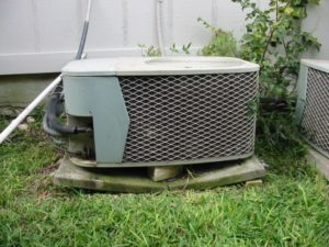 Air Conditioner with Cracked Support Slab