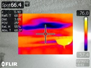 Ceiling Water Leak Found with Thermal Imaging
