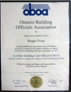 About the Barrie Home Inspector - Certified Building Code Official