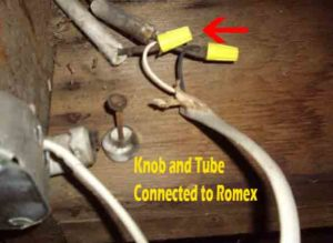 Knob-&-Tube-Connected-to-Romex