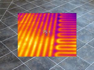 Bathroom Heated Floor - Inspected with Infrared camera
