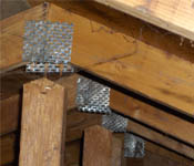 Damaged Roof Truss found by by Barrie Home Inspections