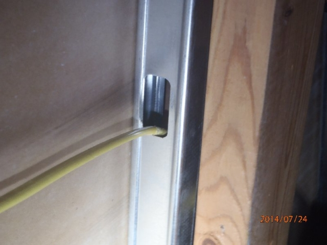 Electrical Cable in Metal Stud Wall found by Barrie Home Inspections