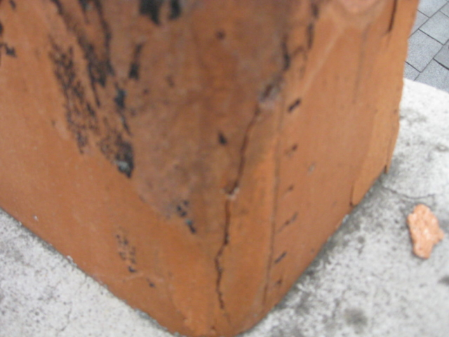 Cracked flue liner found by Certified WETT Inspections for Barrie