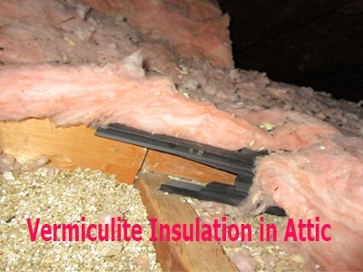Vermiculite Insulation found in Attic by Barrie Home Inspections