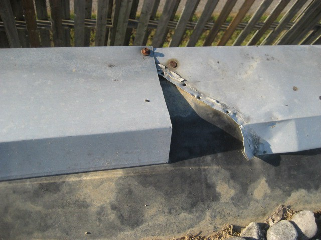 Flashing Damaged on Flat Roof found by Barrie Home Inspections