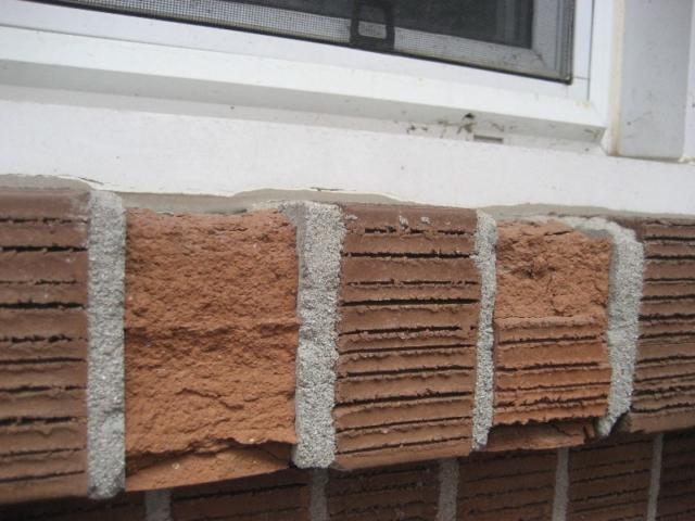 Spalled Brick Finish on Window Sill